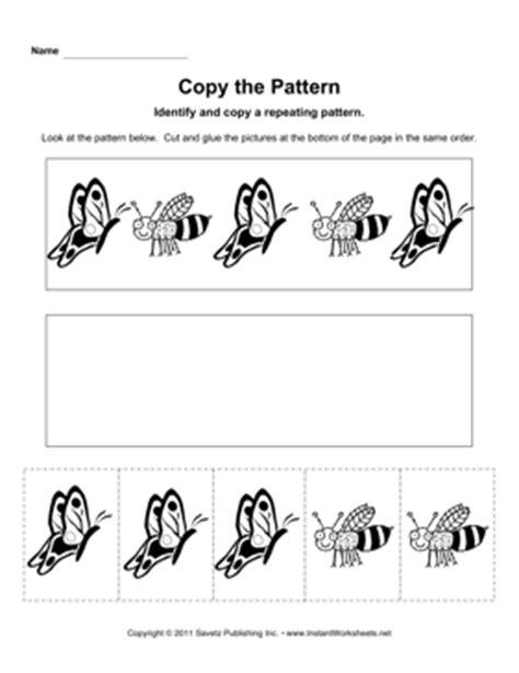 identifying pattern markings worksheet identify pattern bee