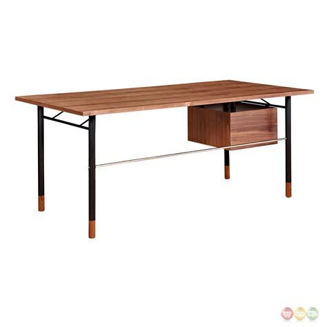 white desk with storage soren walnut wood writing desk with storage in blue