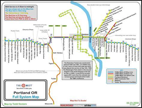 trimet map portland or transit guide