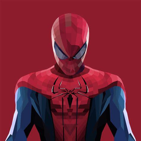 wallpaper spider man minimal art  poly hd creative