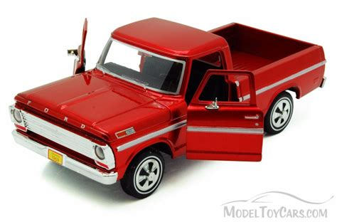 Diecast Truck 1969 ford f100 up truck burgundy showcasts 79315 1 24 scale diecast model car