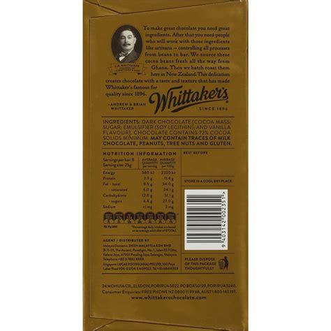 Whittakers Chocolate 200g whittakers chocolate 72 cocoa 200g block