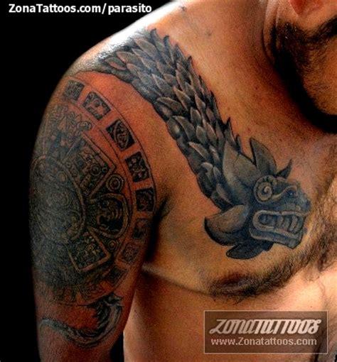 imagenes de tatuajes de quetzalcoatl tatuaje de quetzalc 243 atl prehisp 225 nicos hombro