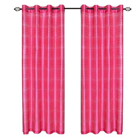 Diy Grommet Curtains Lavish Home Fuschia Maggie Grommet Curtain Panel 108 In