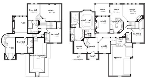 5 bedroom floor plans 2 story 5 bedroom house plans at two story homedesign ide home