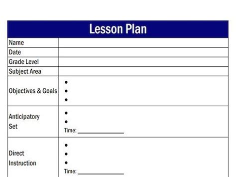 Creating A Lesson Plan Template Best 46 Preschool Activities Ideas On Pinterest Pre School Pre Stay Template