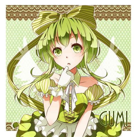 gumi from vocaloid gumi vocaloid zerochan anime image board
