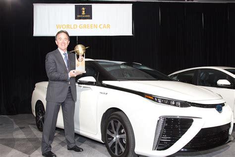 toyota mirai fcv declared 2016 world green car