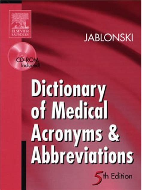 Dictionary Of Medical Acronym And Abbreviations Docshare