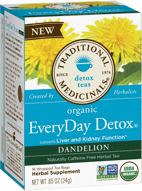 Chamomile Tea For Liver Detox by Everyday Detox 174 Dandelion Traditional Medicinals