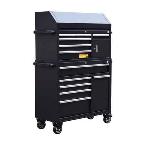 11 Drawer Tool Chest by Homcom Rolling Steel 11 Drawer Tool Chest Cart