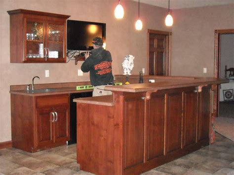 Whet Bar Basement Bar Cabinets