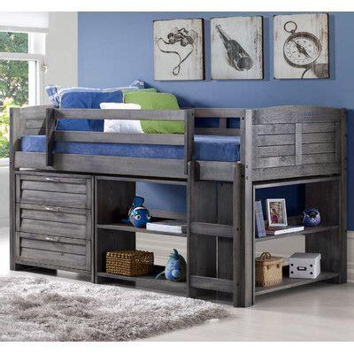 evan modern twin  loft bed  storage  loft beds
