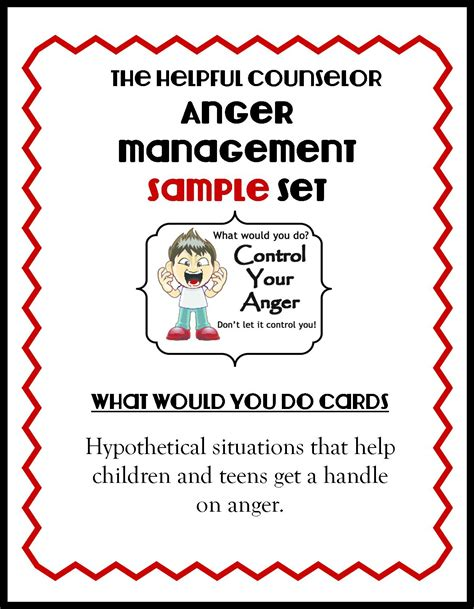 Printable Anger Management Activities | anger management free printable problem solving the