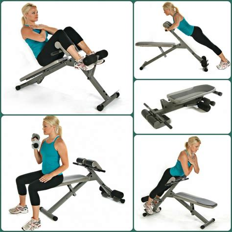 stamina ab hyper bench pro adjustable hyper extension back exercise chair ebay