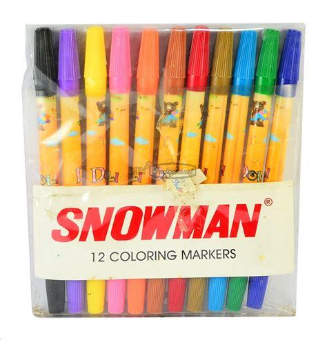 Spidol Snowman Alat Tulis Spidol Warna Perlengkapan Sekolah snowman spidol 12 warna pck klikindomaret