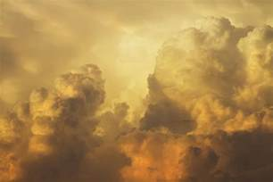 Yellow Duvet Colorful Orange Yellow Storm Clouds At Sunset Photograph