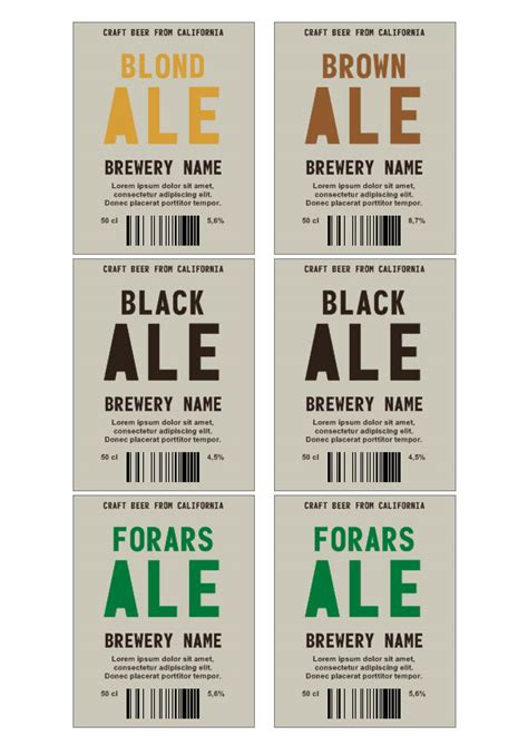 beer labels labeljoy labels printing software