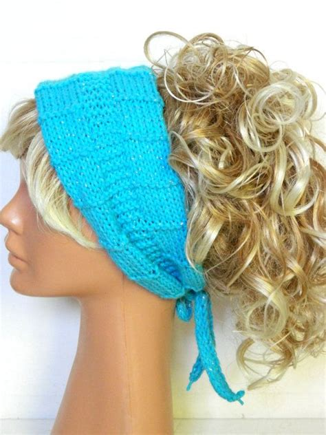 how to knit hair band knitted band knitted ear warmer turquoise winter