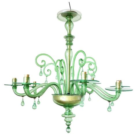 Green Chandelier Emerald Green Murano Glass Chandelier By Venini At 1stdibs