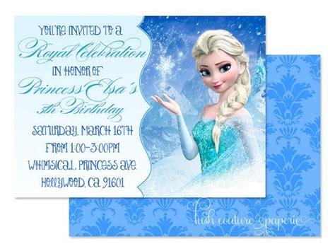 printable birthday cards elsa frozen princess elsa 5x7 printable print by