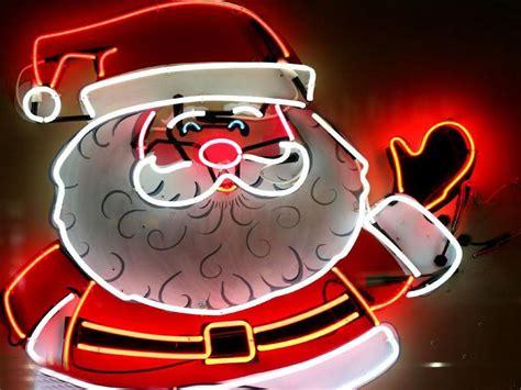 neon christmas lights wallpaper santa claus neon lights hd wallpapers backg