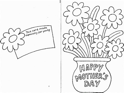 Mother S Day Coloring Pages Bestofcoloring Com Card Coloring