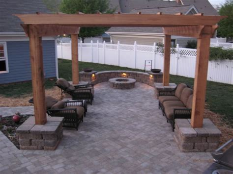 covered wood arbor with firepit search pimp my
