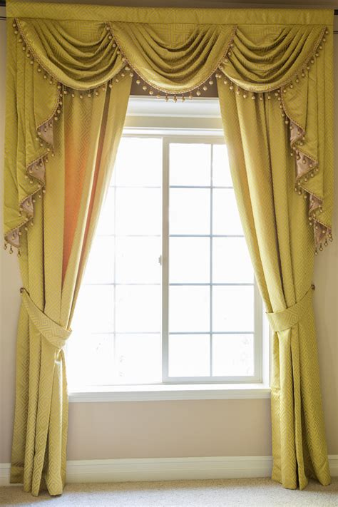 yellow valance curtains yellow greek key classic swag valances curtain drapes