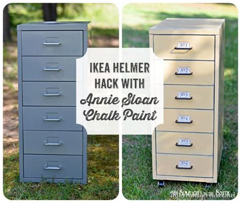Ikea File Cabinet Hack Ikea Hack Helmer Drawer Set Metal File Cabinets Chalk Paint And Ikea Hack