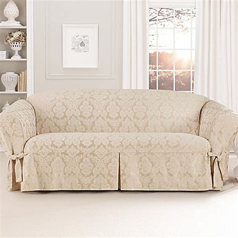 bed bath and beyond sofa slipcovers sure fit 174 relaxed fit middleton furniture slipcover bed