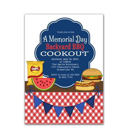 cookout invitation template cookout invitation labor day memorial day bbq invite