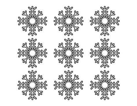 printable snowflakes small printable small snowflake pattern use the pattern for