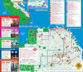 San Francisco Points Of Interest Map by San Francisco Map City Sightseeing Hop On Hop Off Double