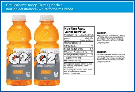 Printable Gatorade Label | gatorade g2 nutrition label dollhouse printables