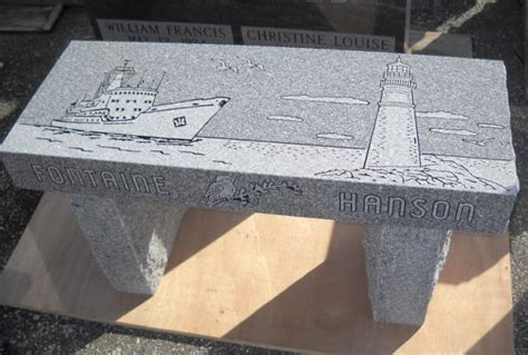 granite memorial benches maine memorial benches collette monuments