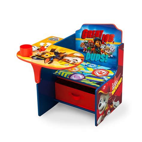 desk chair with storage bin delta children nick jr paw patrol kids desk chair with