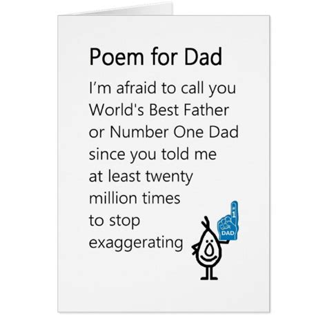fathers day poems for papa poem for a s day poem card zazzle ca