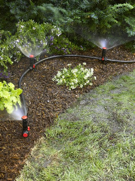 flower bed watering system above ground irrigation systems for landscaping diy