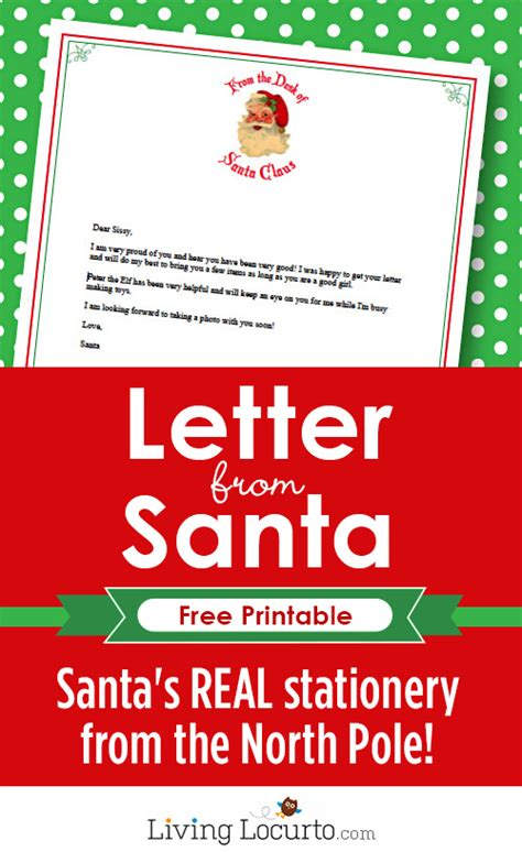 free printable letter from santa claus uk letter from santa free printable santa stationery