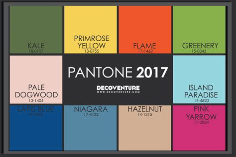 colours of the year 2017 the 2017 color trends decoventure