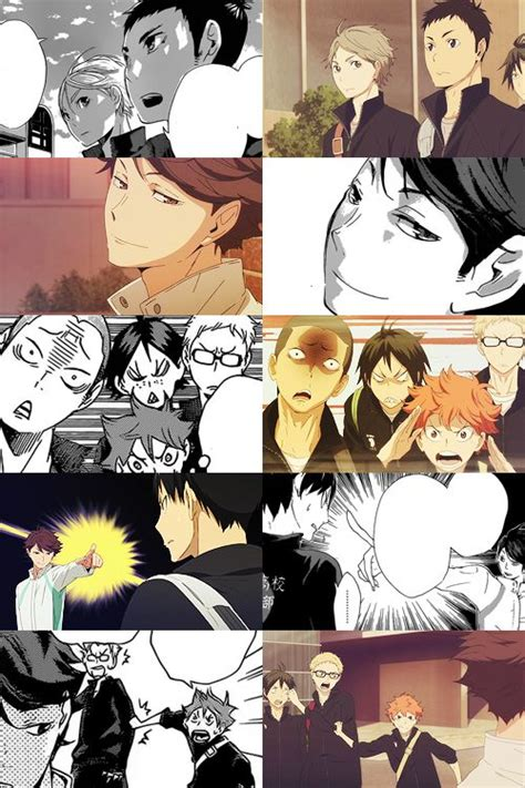 anime haikyuu 11 manga vs anime haikyuu haikyuu pinterest