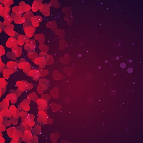 valentines day backdrops bokeh valentines day background in purple tones vector