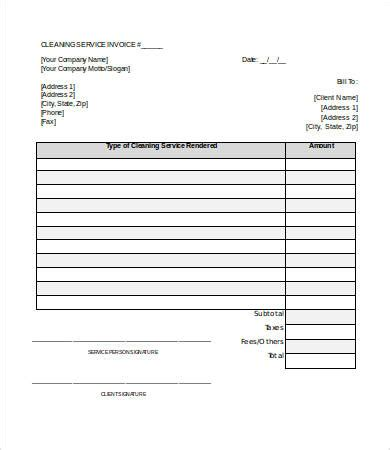 Service Invoice Template Word 7 Free Word Documents Download Free Premium Templates Cleaning Company Invoice Template