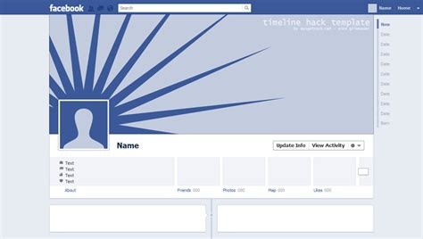 adaptation of facebook timeline cover und avatar with a