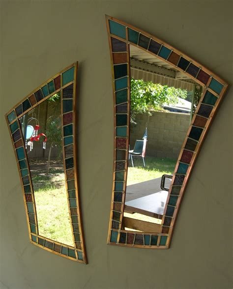 beveled glass bathroom mirrors stained glass with mirrors by jimstardust deviantart com stained glass pinterest