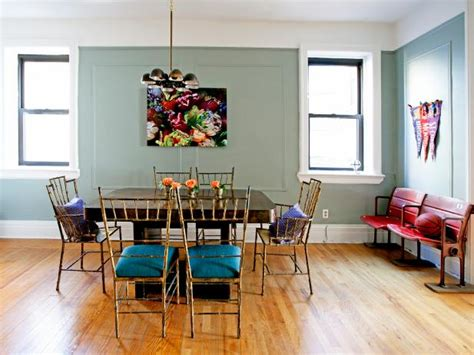 eclectic dining room with window seat hardwood floors photo page hgtv