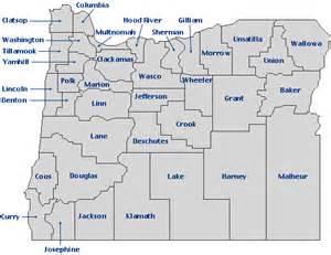 map of colleges in oregon oregon blue book map index click on county for more