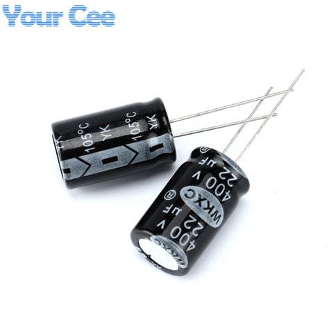 Kapasitor Ac 15 Uf 4oov 10 pcs electrolytic capacitors 400v 22uf 13x21mm aluminum electrolytic capacitor in capacitors