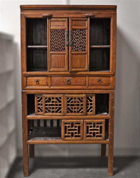 chinese kitchen cabinet antique pantry cabinet pantry cabinet double section